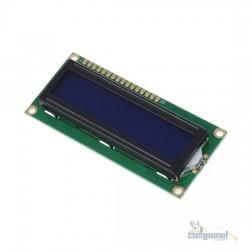 Display Lcd 1602 16x2 Com Back Light Azul - Tela Azul